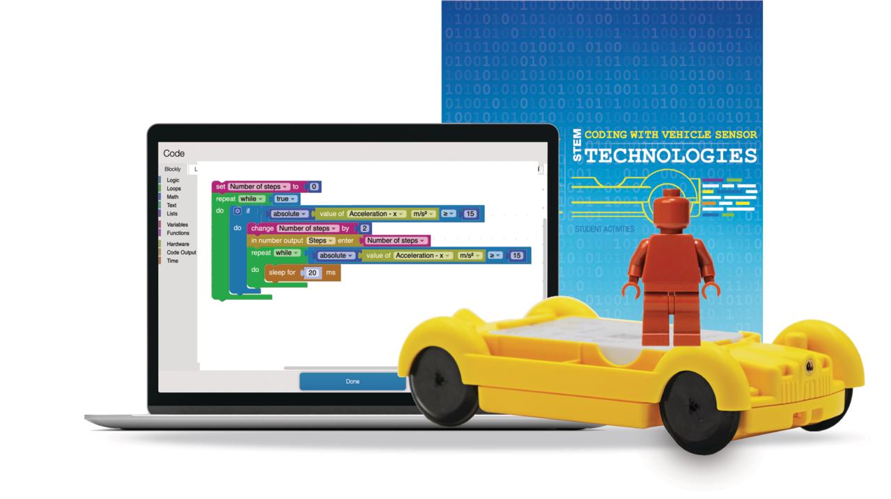 Coding with Vehicle Sensor Technologies Kit (w/o codeNode)