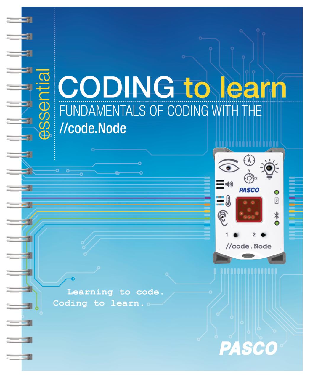 code.Node med hållare och elevbok
