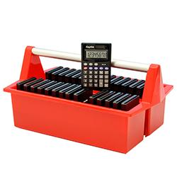 Paket 30 st räknare solcell lock m. låda