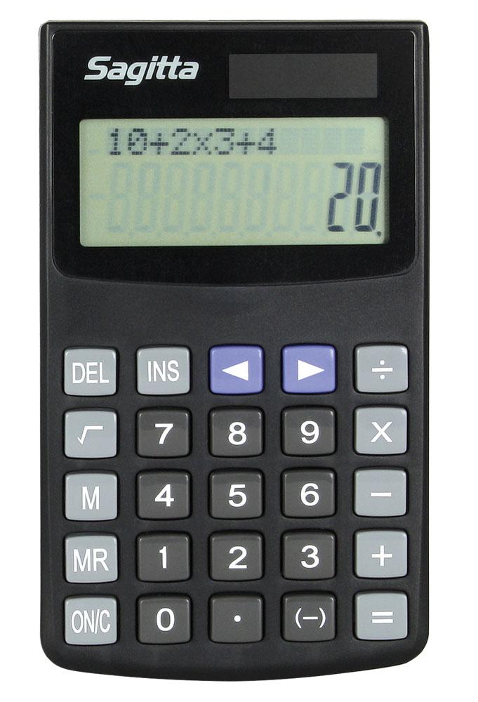 Miniräknare Sagitta tvåradig basic