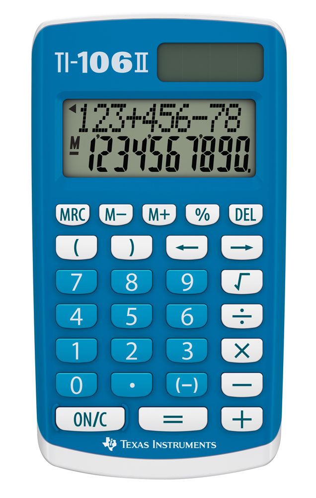 Miniräknare Texas TI-106 II Solar