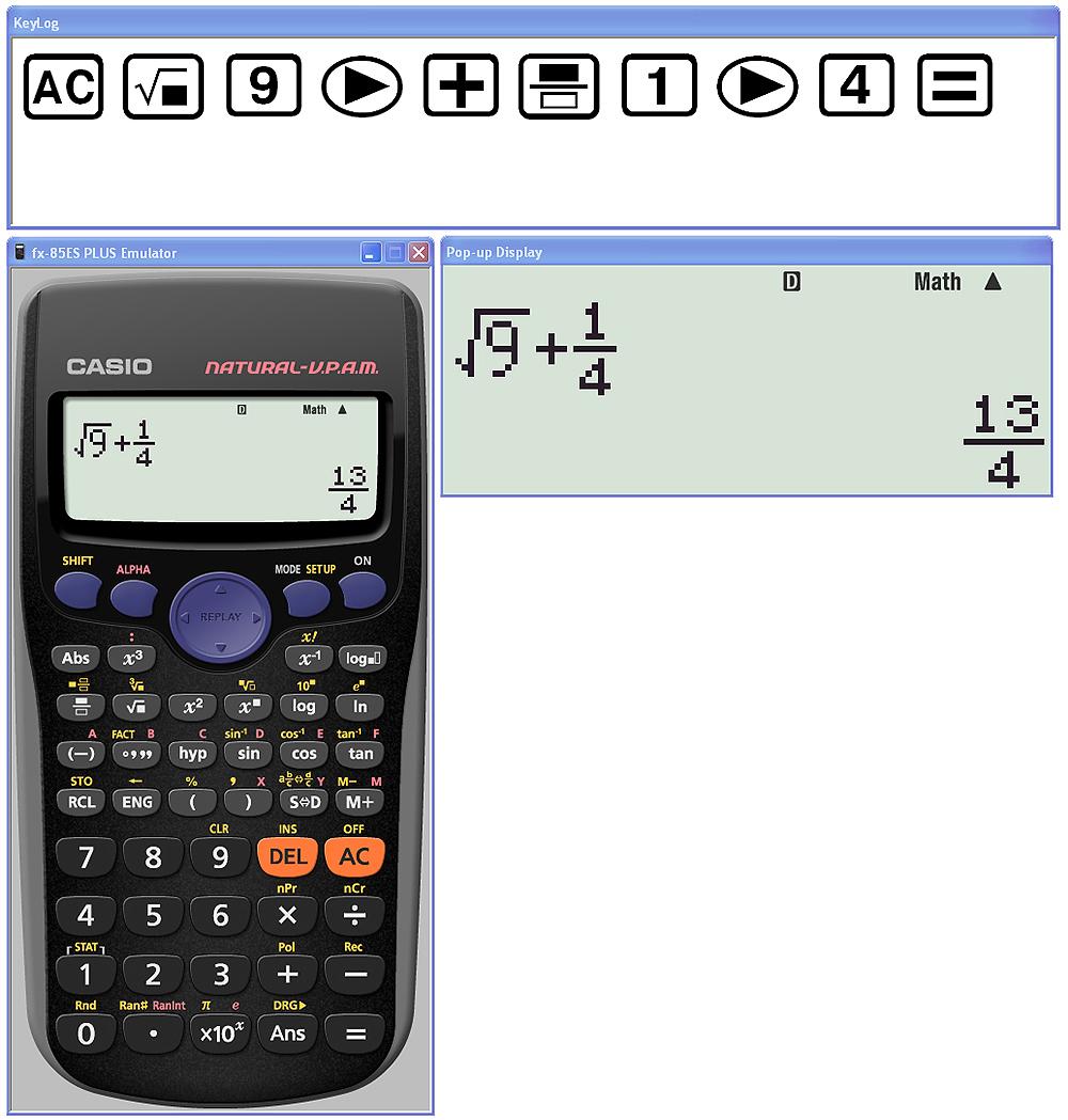 Programvara Casio FX-ES Plus Emulator