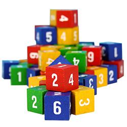 Tärning 6-sidig med siffror, fp 60 st