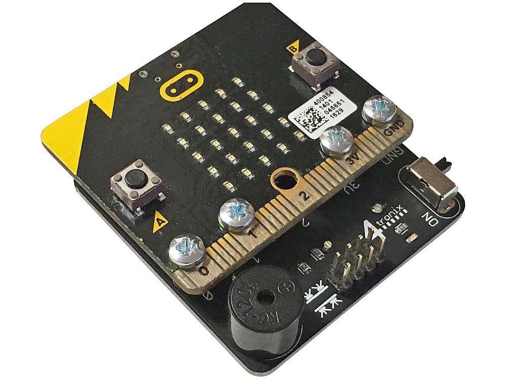 Base:Bit för micro:bit snögubbe
