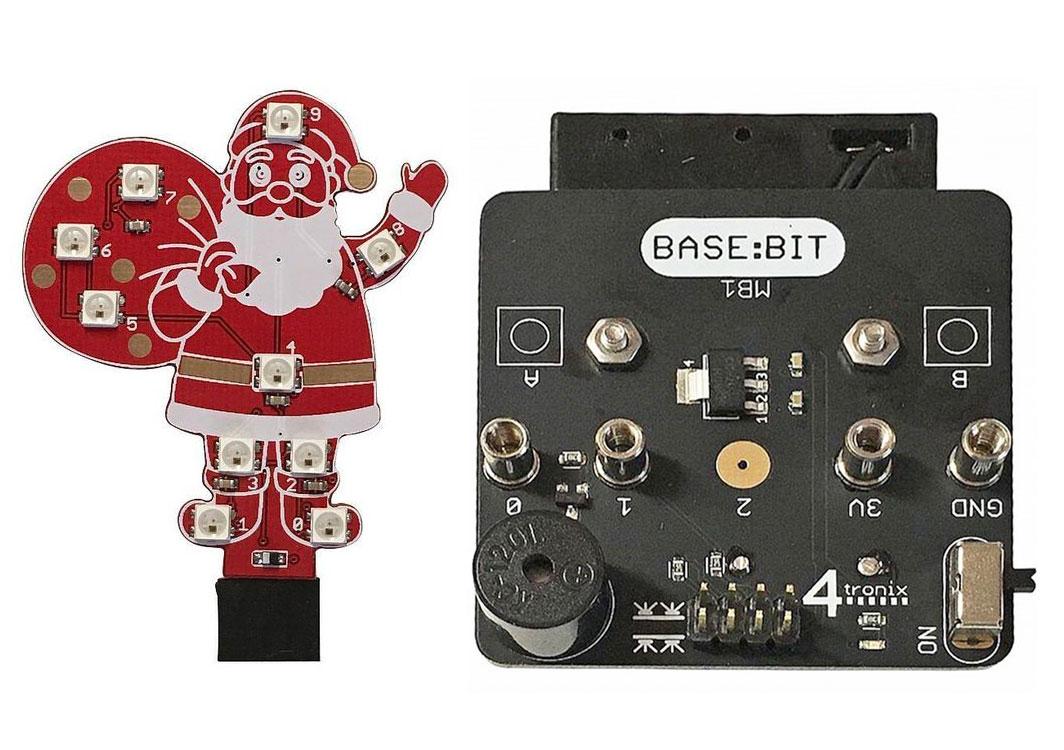 Base:Bit för micro:bit jultomte