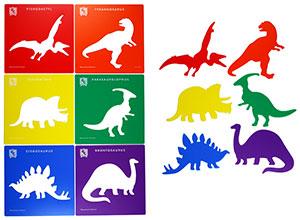 Schabloner dinosaurier FYND