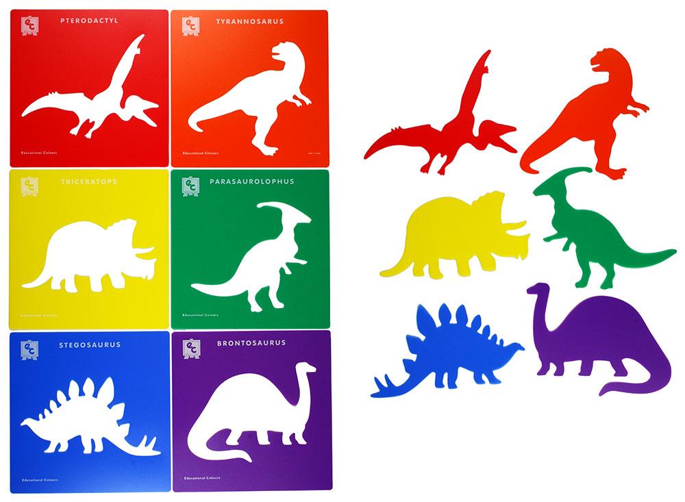 Schabloner dinosaurier