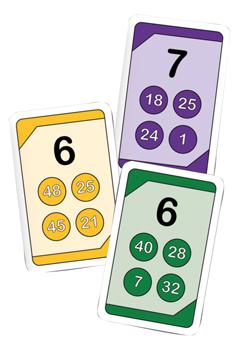 Kortspel - Multiplikationstabellen getSmart