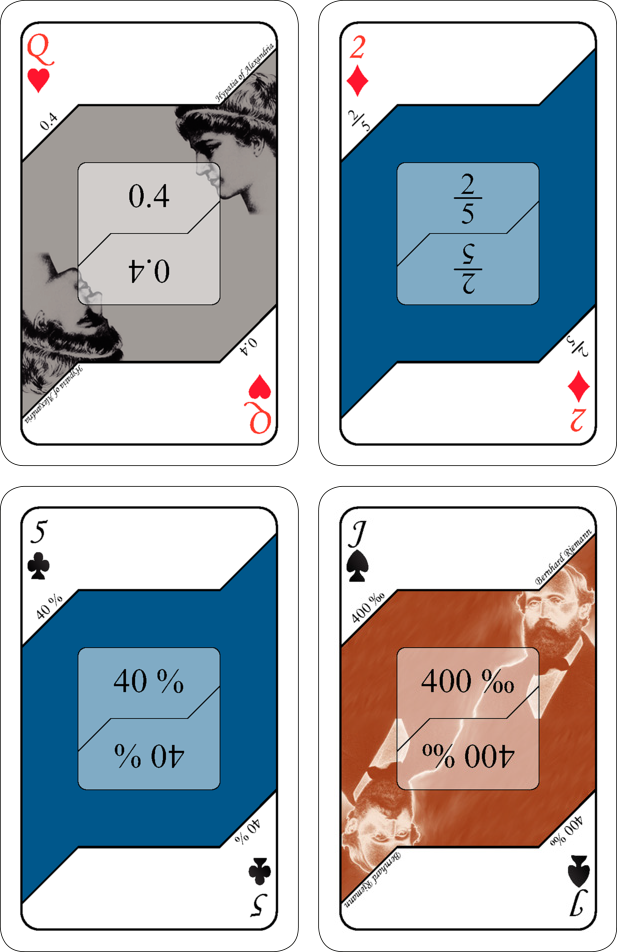 Kortspel - Bråk (blå)