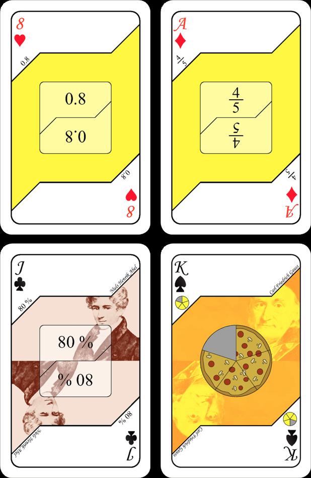 Kortspel - Bråk (gul)