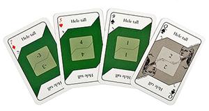 Kortspel - Negativa tal (grön)