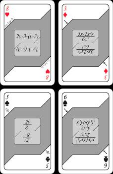 Kortspel - Algebra (grå)