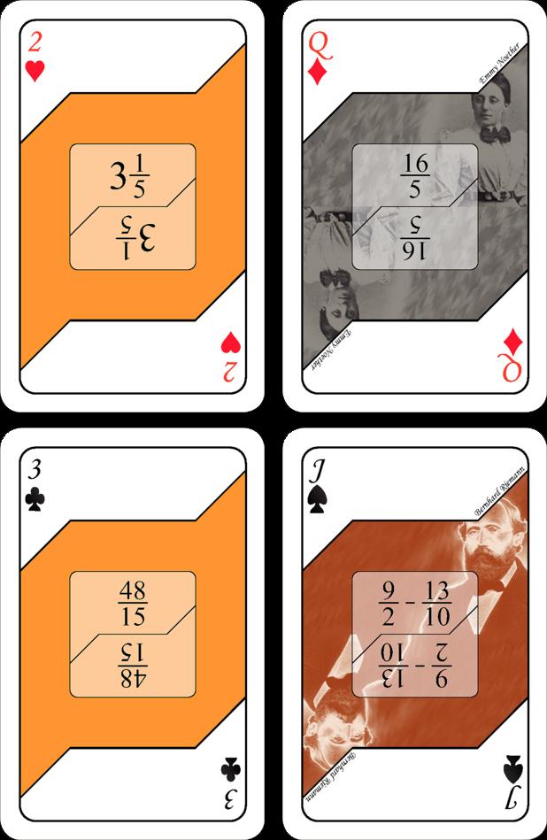 Kortspel - Bråk (orange)