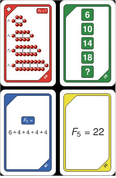 Kortspel - Talföljd mönster