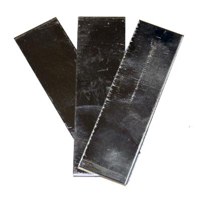 Aluminiumplåt 2x7cm, fp 10st