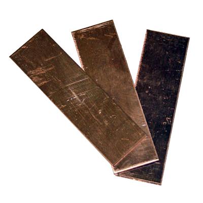 Kopparplåt 2x7cm, fp 10st