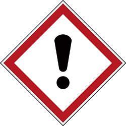 Varningsetikett kemikaliebeständig - Skadlig 250 st