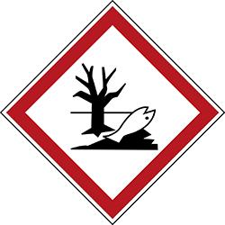 Varningsetikett kemikaliebeständig - Miljöfarlig 250 st