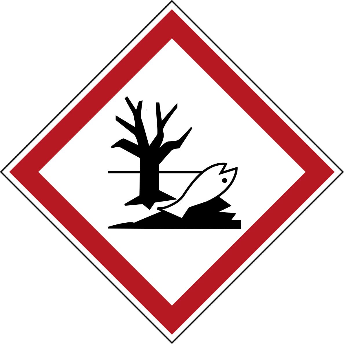 Varningsetikett rulle - Miljöfarlig 250 st