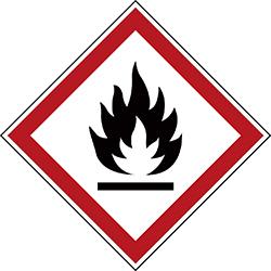Varningsetikett rulle - Brandfarlig 250 st