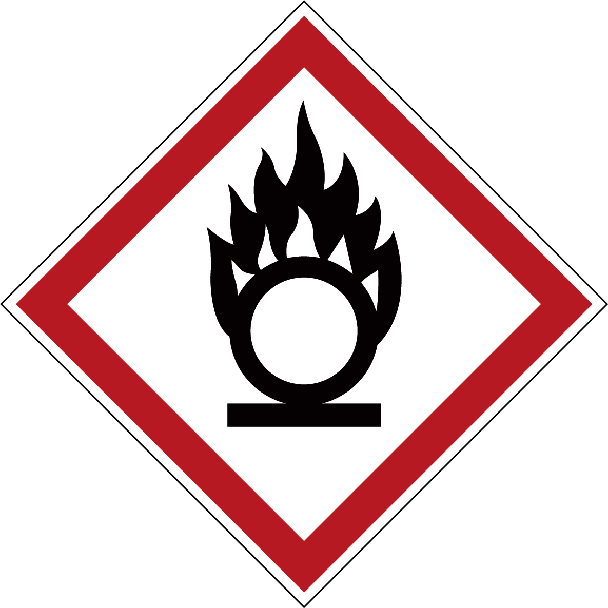 Varningsetikett kemikaliebeständig - Oxiderande 250 st