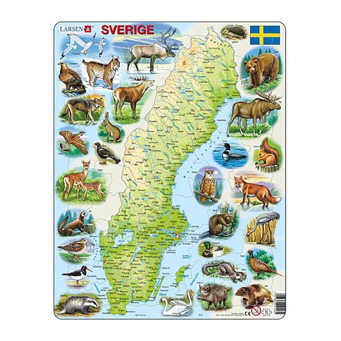 Pussel Sverige djur