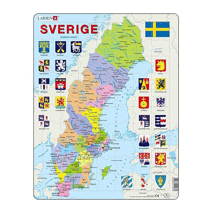 Pussel Sverige län