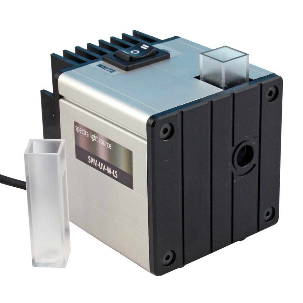 Ljuskälla med kyvetthållare till spektrometer USB