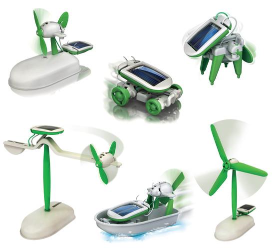 Solcellsbyggsats bil, båt, flyg