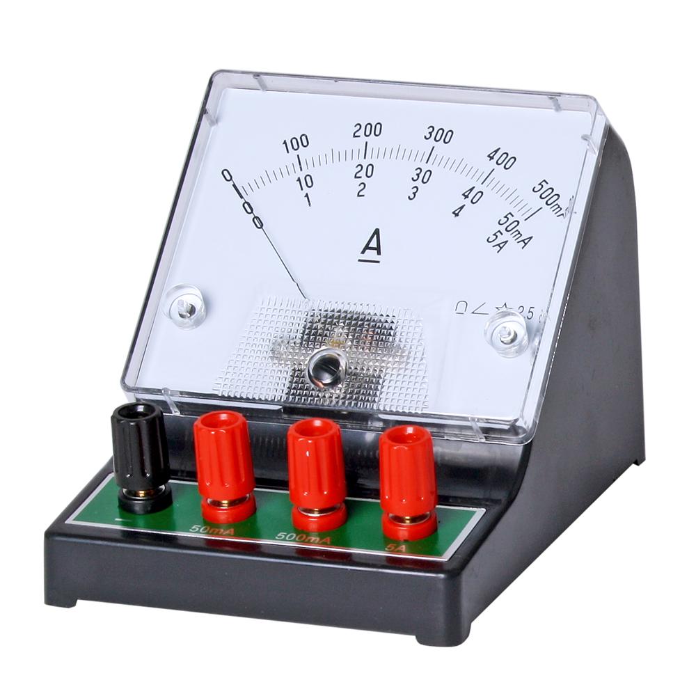 Amperemeter analog, 0,05 / 0,5 / 5 A