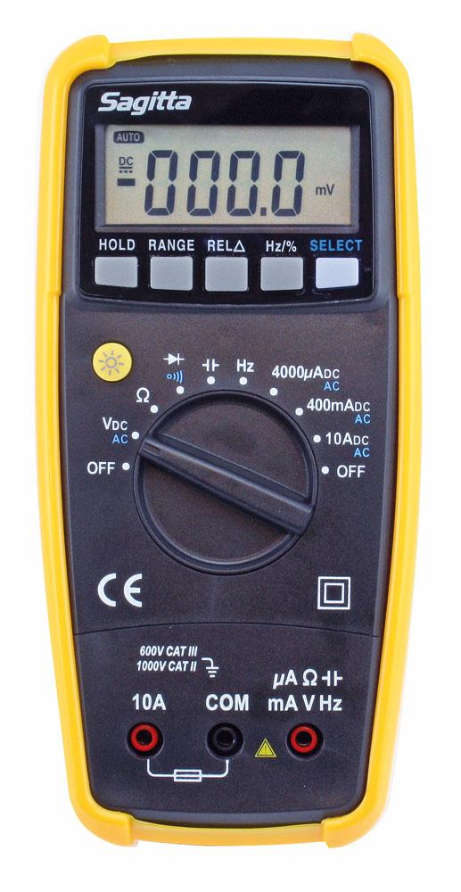 Multimeter med automatsäkring