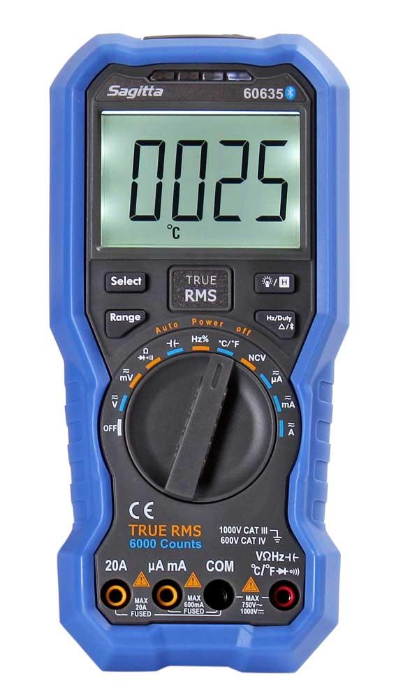 Multimeter automatisk med Bluetooth
