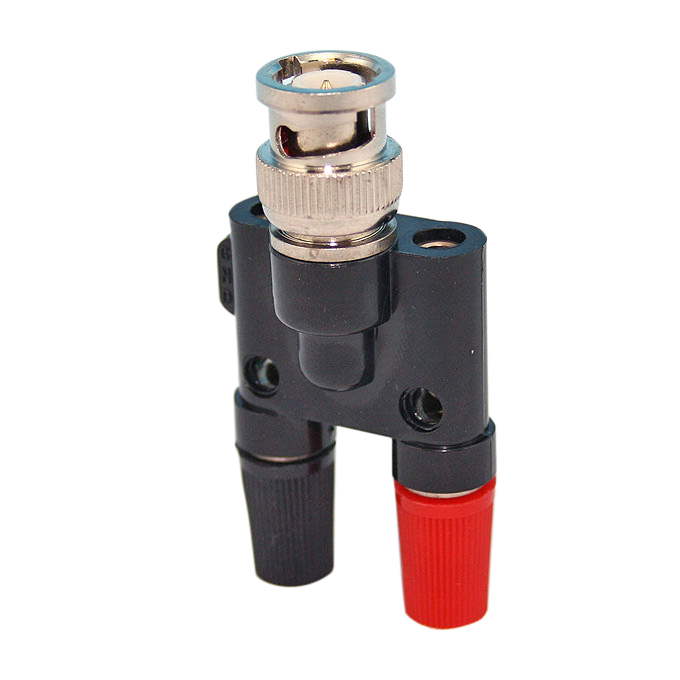 Övergångskontakt BNC - 4mm labsladd