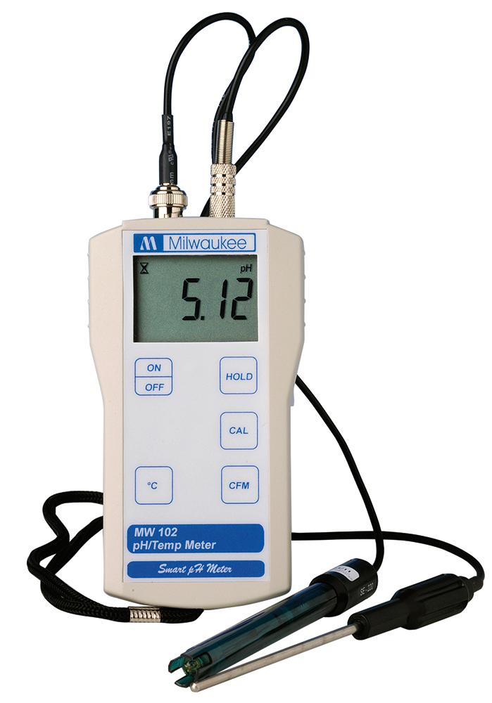 pH-meter med termometer