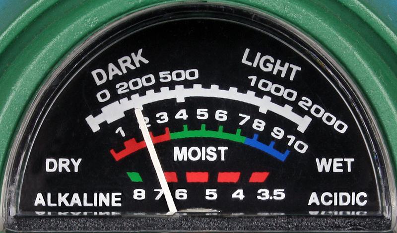 pH, ljus & fuktighetsmätare för jord