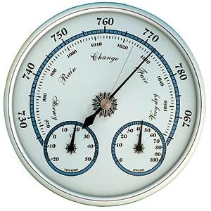 Barometer m. termo- & hygrometer