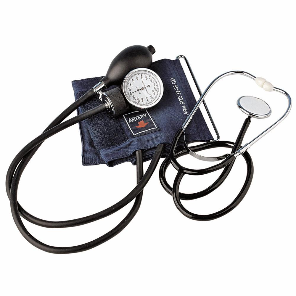 Blodtrycksmätare med stetoskop
