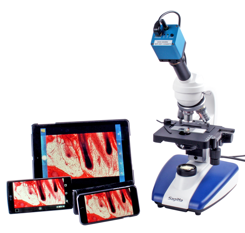 Mikroskopkamera, 1 Mpixel WiFi/USB