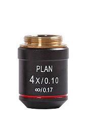 Objektiv 4x Planakromatiskt
