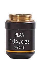 Objektiv 10x Planakromatiskt