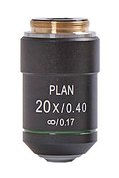 Objektiv 20x Planakromatiskt