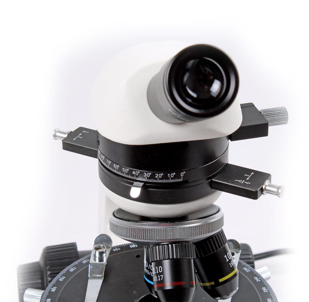 Mikroskop monokulärt polarisation