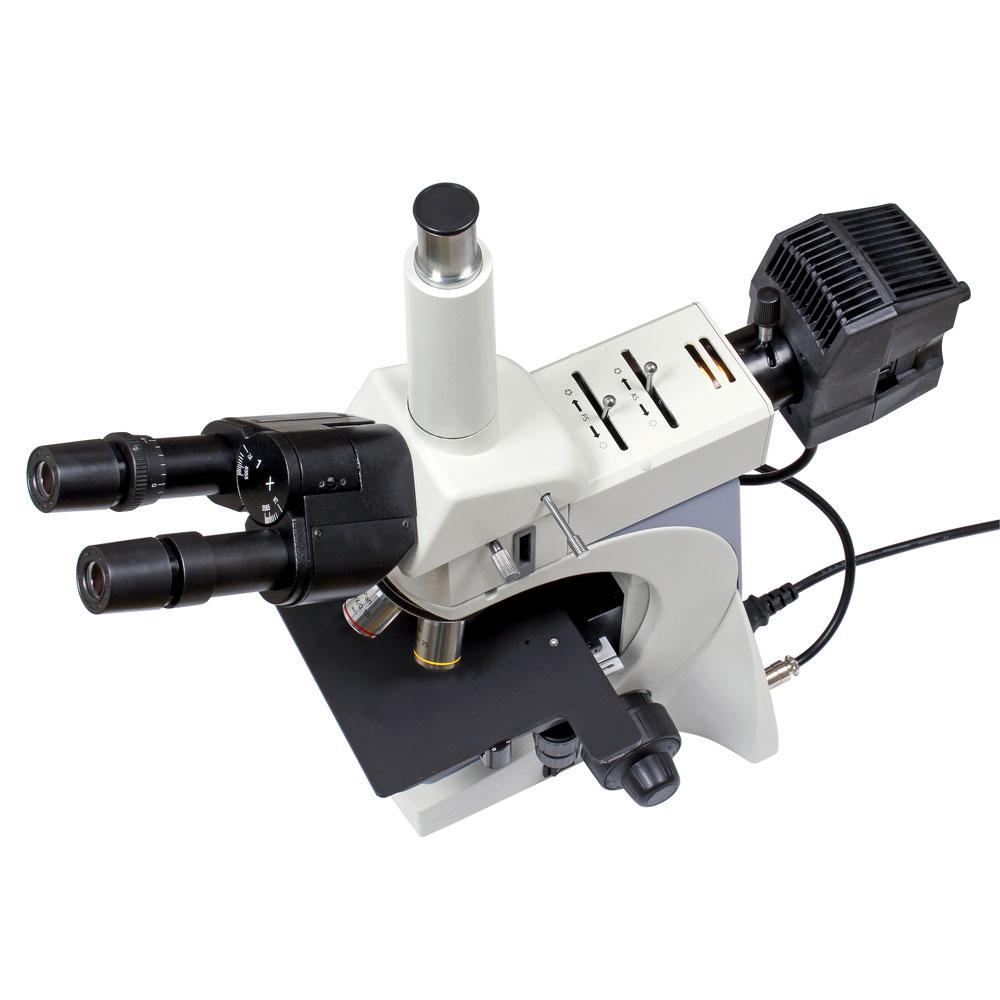 Mikroskop trinokulärt metallurgi