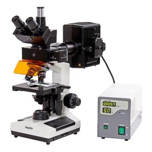 Mikroskop trinokulärt fluorescens