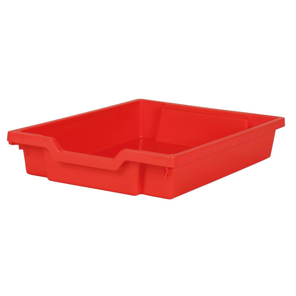 Förvaringslåda höjd 75 mm, röd