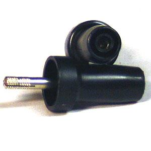 Adapter för säkerhetssladd, svart