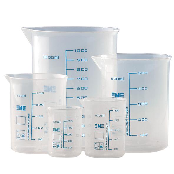 Bägare plast, 50-1000 ml (5 st)