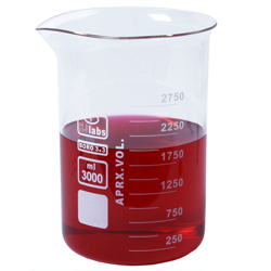 Bägare låg 3000 ml