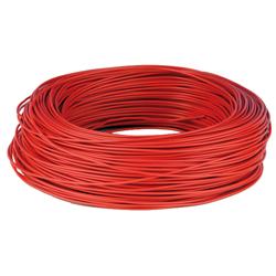 Kopplingstråd entrådig 0,2 mm röd, fp 100 m