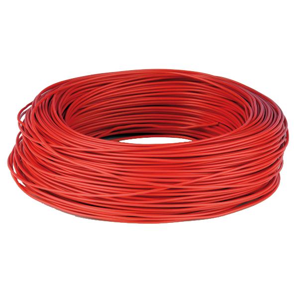 Kopplingstråd entrådig 0,6 mm röd fp 100 m